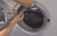 replacing door seal on a washing machine